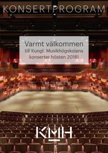 Kungl. Musikhögskolans säsongsprogram hösten 2016