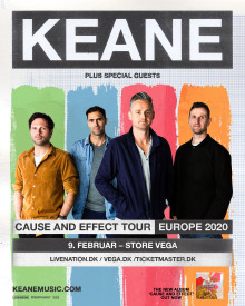 Keane kommer til Store VEGA på deres Cause And Effect Tour