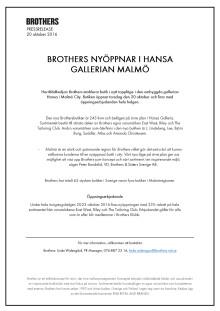 Pressinformation Brothers Hansa Malmö