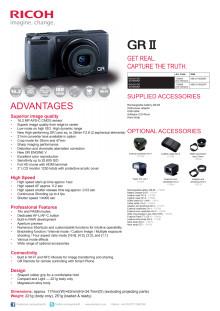 Ricoh GR II, specifikationer