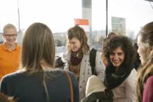 Flygen fylls med internationella studenter