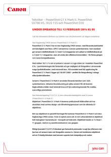 Canon Teknisk förklaring IXUS och PowerShot 12 feb 2014