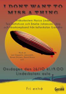 Rockkonsert med Musica Linde och lärarkompband