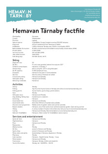 Facts and numbers about Hemavan Tärnaby 2017 (Eng)