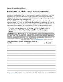 Namninsamling - rätt till vård för alla