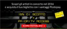 Torna la grande musica a Piazzola sul Brenta, Padova:  il Postepay Sound ospita una straordinaria kermesse di stelle internazionali