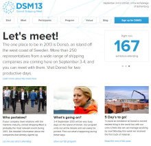 Infrastrukturministern och representanter från hela internationella shippingindustrin samlas på Donsö