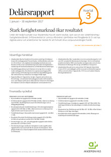 Delårsrapport 1 januari - 30 september 2017