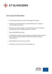 Facts about St Olavsleden