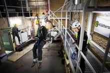 Industriella klättrare utbildas i Östersund