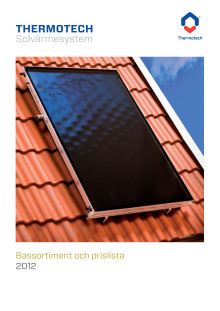 Broschyr - Thermotech Solvärme bassortiment 2012
