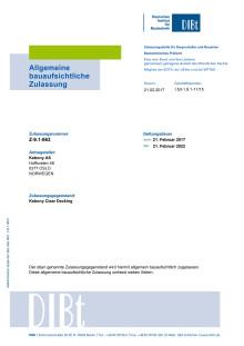 DIBt - Bauaufsichtliche Zulassung für Kebony