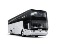 Danmarkspremiere på Abildskous første Scania Van Hool Altano luksusbus på busmessen i Herning.