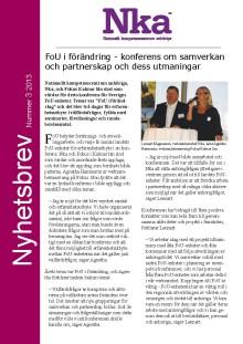 Nyhetsbrev - Anhöriga till äldre personer - nr 3 2013
