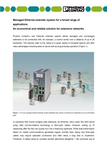 Managed Ethernet extender system for a broad range of applications