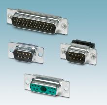 Modular D-SUB connectors for individual applications