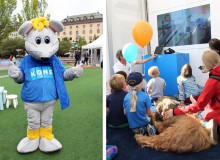 KONE lär barn i Malmö att åka säkert i hissar och rulltrappor