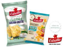 Förlansering från Estrella: Nya smaker på Linschips och Potatischips på Hemmakväll