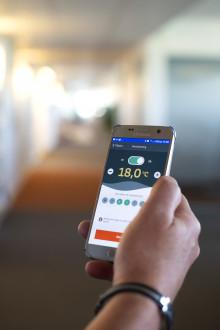 Klimatkontroll – en smart app från Mälarenergi.