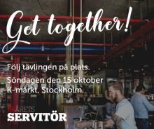 Den 15 oktober koras Sveriges bästa servitör