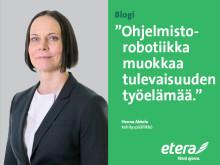 Henna Ahtola: Digityökaveri Tarmo aloitti työnsä Eterassa