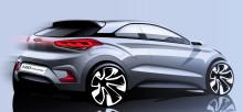 Hyundai avslöjar: första bilderna på nya i20:s interiör samt skiss på nya i20 Coupe
