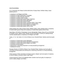 List of convictions