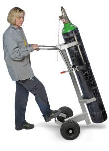 Ergonomisk gasvagn för transport av gasflaskor