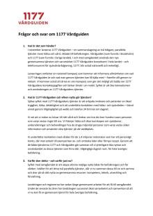 Frågor och svar om 1177 Vårdguiden