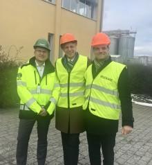 Finansmarknads- och konsumentminister Per Bolund besökte Lantmännen Agroetanol