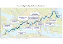 151211 Linje 1 - Karta med åtgärder