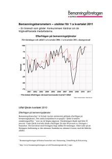 Bemanningsbarometern första kvartalet 2011: Branschen är glödhet och ger jobb åt allt fler