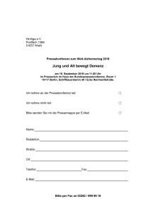 Anmeldeformular zur PK am 19.9.2016