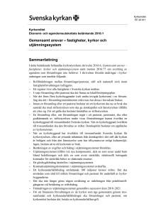 Betänkandet Gemensamt ansvar - fastigheter, kyrkor och utjämningssystem