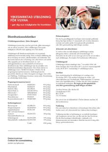 Distributionselektriker - informationsblad