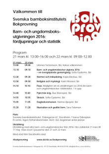 Program för Bokprovningen