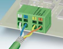 PCB terminal blocks for Profinet