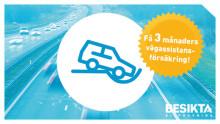 Alla bilägare får tre månaders fri vägassistans från SBM Försäkring efter godkänd besiktning hos Besikta.