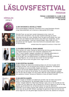 Program Läslovsfestival 2016