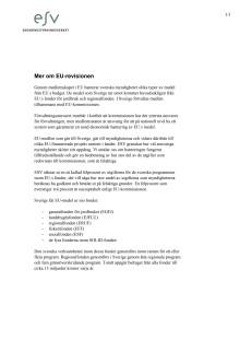 Mer om den svenska EU-revisionen