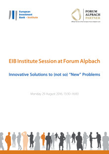 European Forum Alpbach 2016 : Innovative Solutions to the New Challenge of Integration