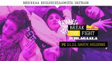 Break the Fight! Breikkaa koulukiusaamista vastaan-juhlagaala 11.11. 2016 Savoy-teatterissa