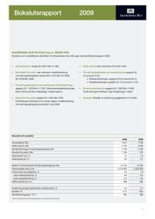 Akademiska Hus bokslutsrapport 2009