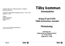 Förteckning över konstauktion Täby 2015