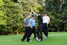 Rains fail to dampen spirits at charity golf day