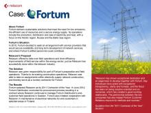 Customer case: Fortum