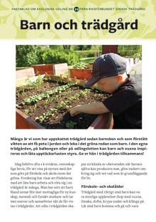 Barn och trädgård - Nytt Faktablad från Riksförbundet Svensk Trädgård