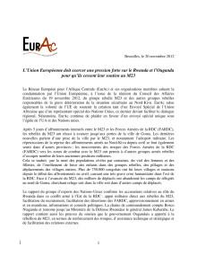 42 europeiska organisationer kräver att EU agerar för att Uganda och Rwanda stoppar stödet till M23