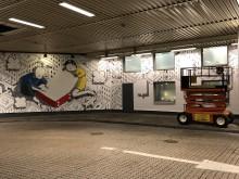 Väggarna får nytt liv när bussön på Helsingborg C görs om