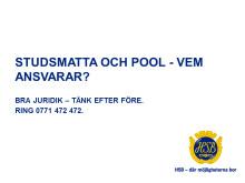 Studsmatta och pool - vem ansvarar?